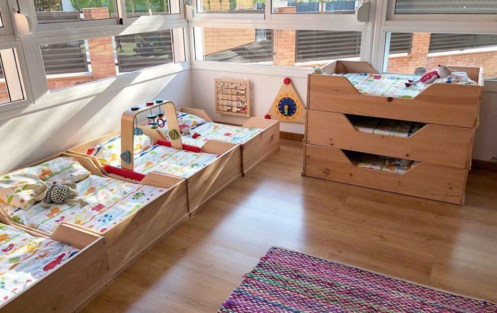 camas montessori para escuelas