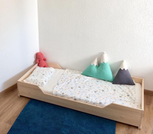 Cama Montessori Kutuva 160 acabado natural